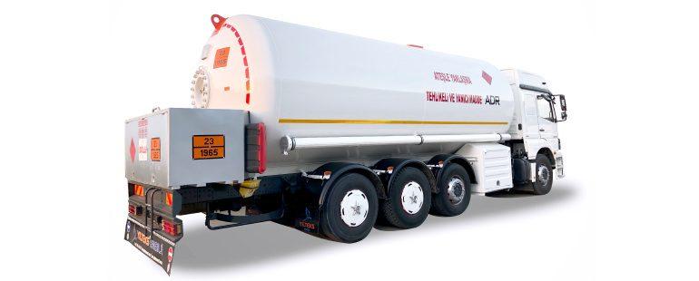 LPG ABOVE TRUCK TRANSPORT (BOBTAIL)